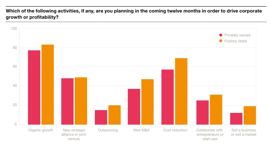 PwC CEO Survey for business growth plans