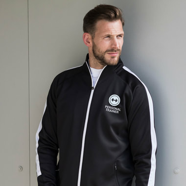 personal trainer branded tracktop