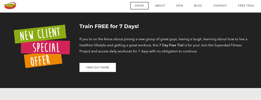 Banner with CTA for Free Trial