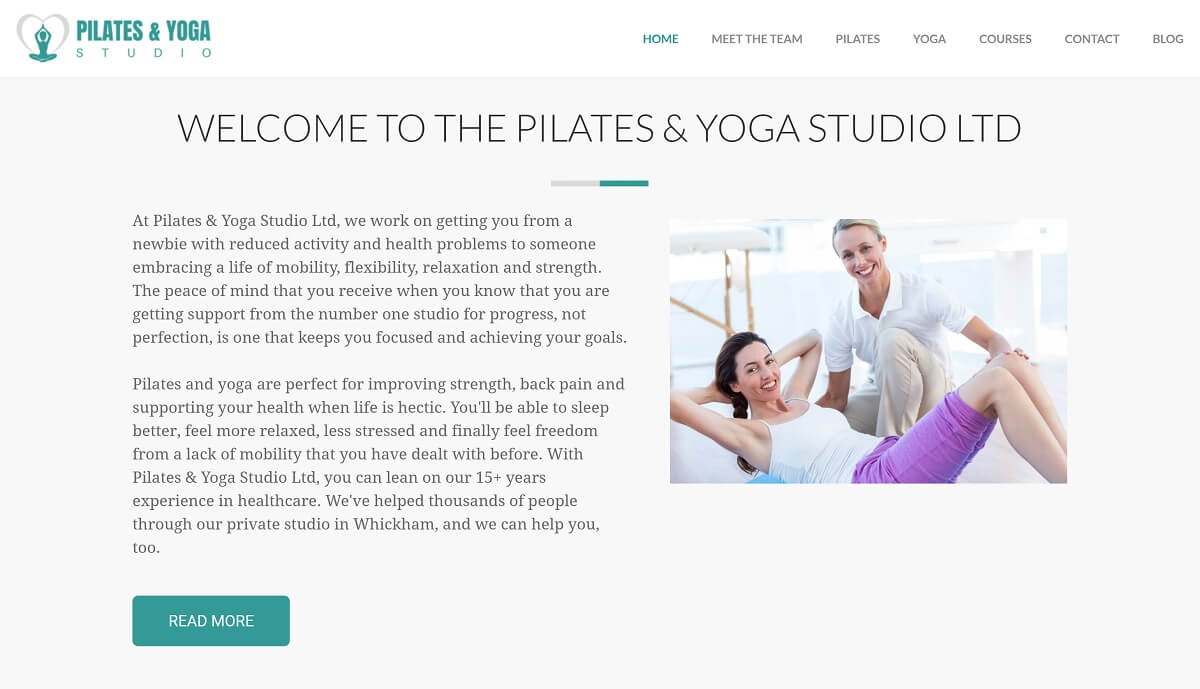 Fitness Website Home page CTA